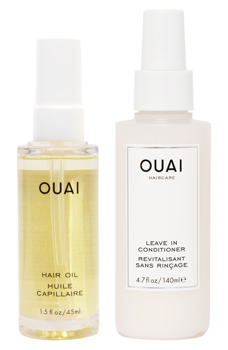 OUAI Thirsty Hair Oil & Leave-In Conditioner Kit, Main, color, 000