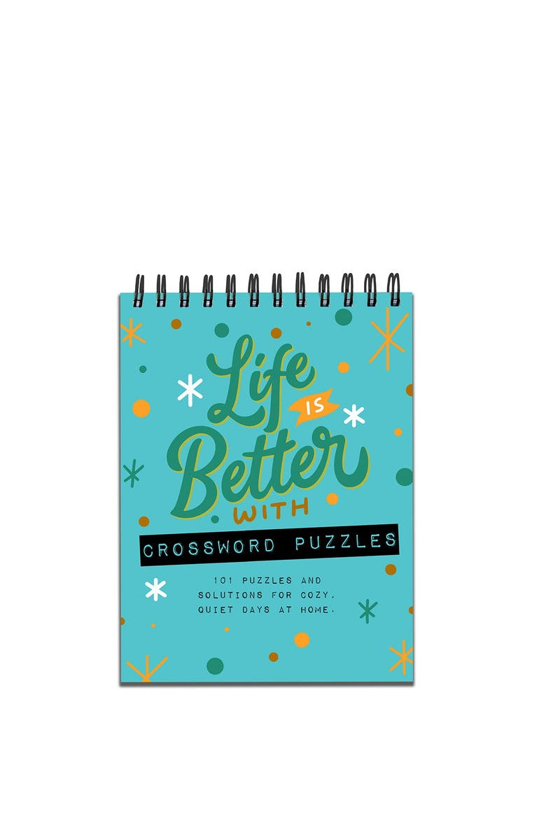 TF PUBLISHING Life is Better with Crossword Puzzles Book Spiral Puzzle Pad - Pack of 2, Main, color, NONE