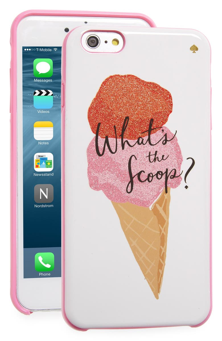 KATE SPADE NEW YORK 'what's the scoop?' iPhone 6 Plus & 6s Plus case, Main, color, 650