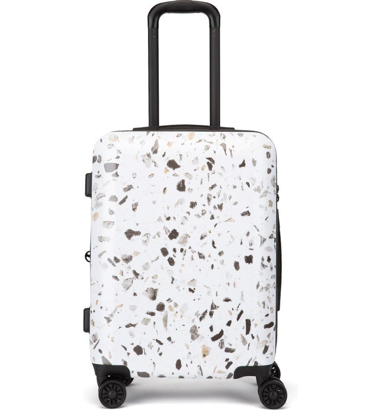 CALPAK Terrazzo 22-Inch Hard Shell Spinner Carry-On Suitcase, Main, color, EARTH-MULTI