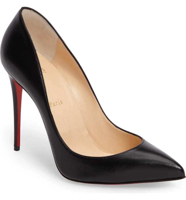 CHRISTIAN LOUBOUTIN Pigalle Follies Pointy Toe Pump, Main, color, 001