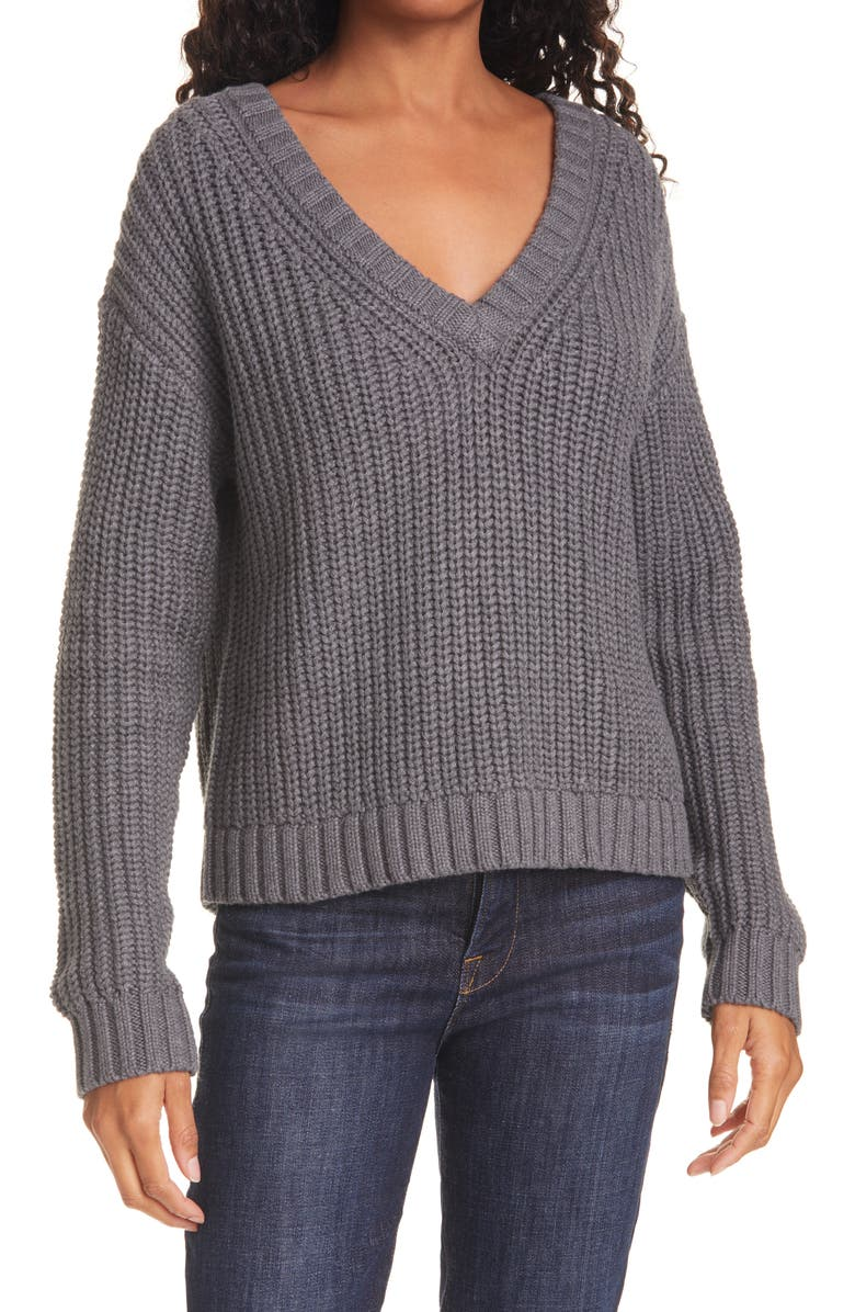 ATM ANTHONY THOMAS MELILLO Cotton & Cashmere Sweater, Main, color, HEATHER CHARCOAL