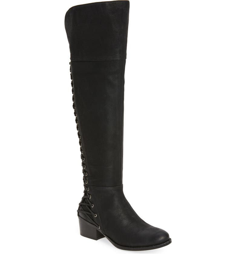 VINCE CAMUTO Bolina Over the Knee Boot, Main, color, BLACK WIDE CALF