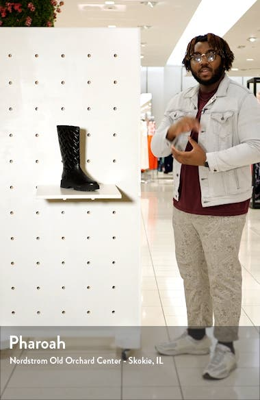 Baton Quilted Knee High Boot, sales video thumbnail