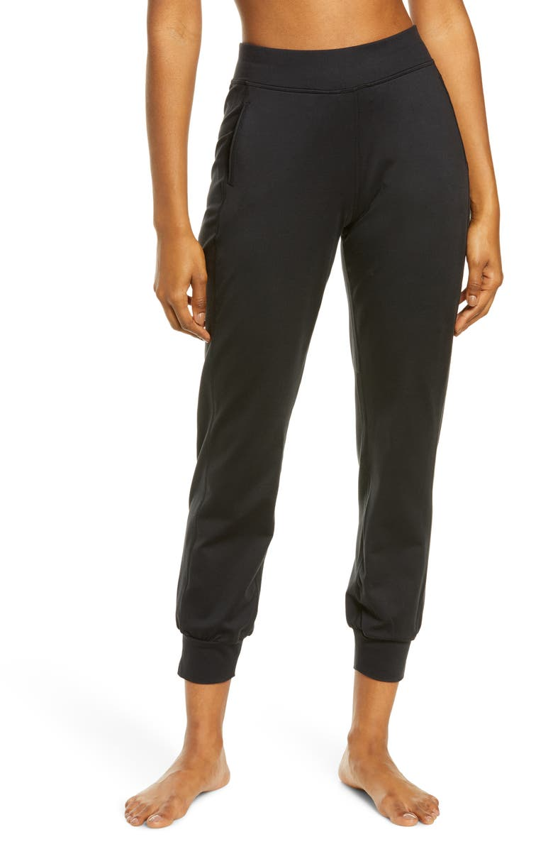SWEATY BETTY Gary Yoga Trousers, Main, color, BLACK/ BLACK