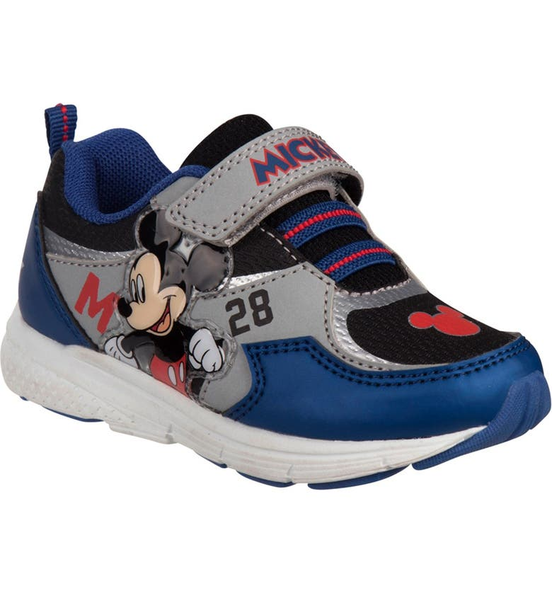 JOSMO Mickey Mouse Sneakers, Main, color, NAVY/GREY