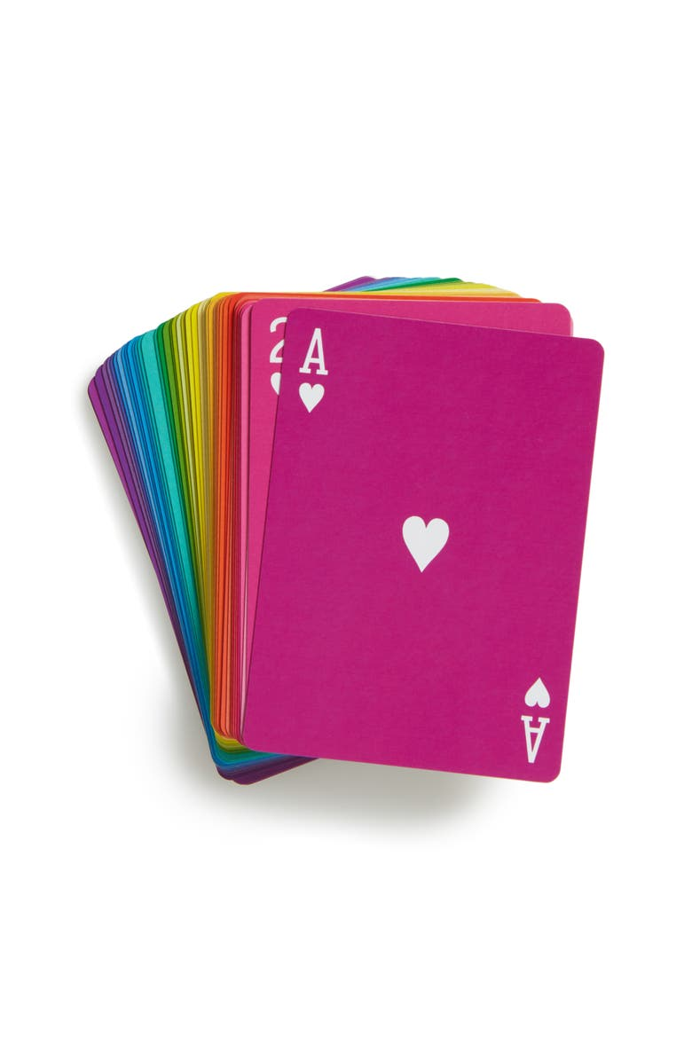 MOMA Design Store Rainbow Playing Cards, Main, color, NONE
