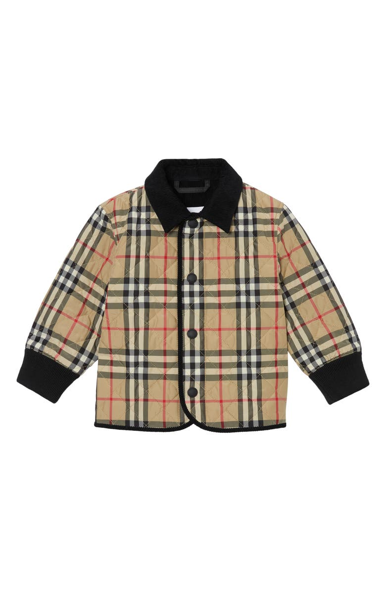 BURBERRY Culford Archive Check Jacket, Main, color, ARCHIVE BEIGE