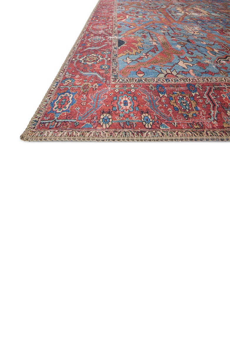 LOLOI Loren Rug - Blue/Red, Main, color, BLUE / RED