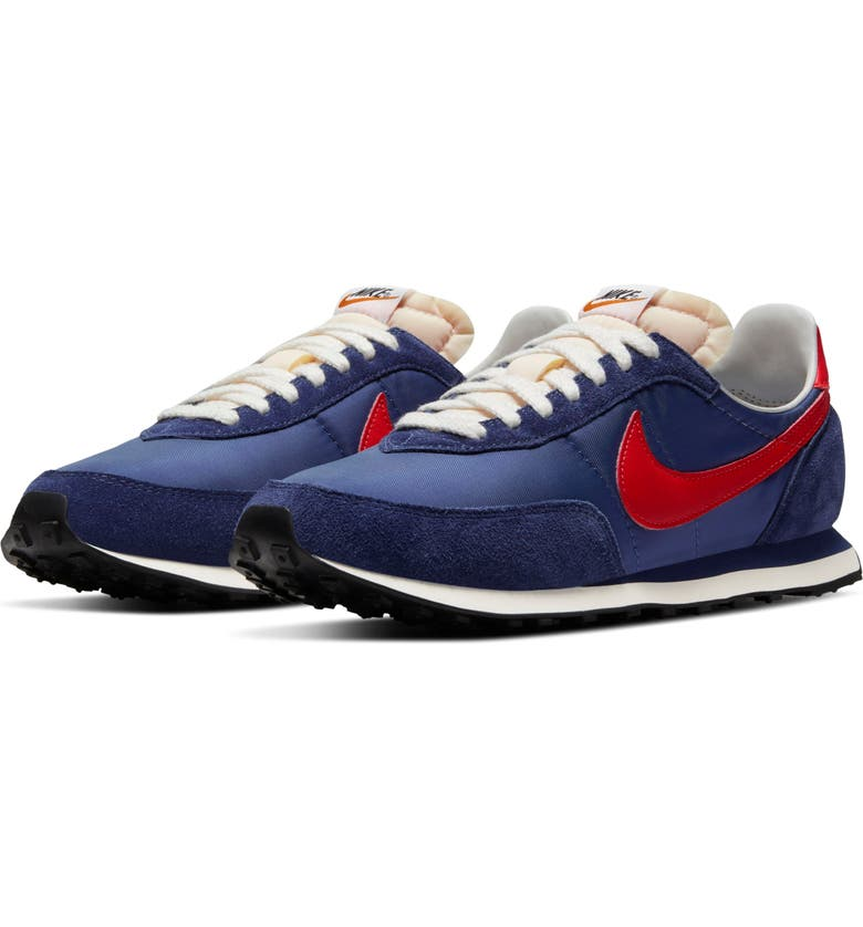 NIKE Waffle Trainer 2 SP Sneaker, Main, color, MIDNIGHT NAVY/ MAX ORANGE