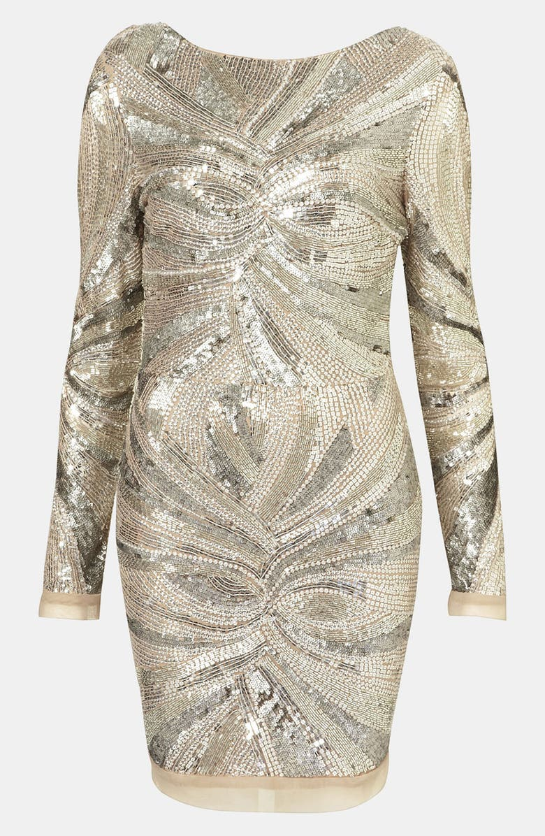 TOPSHOP Embellished Body-Con Dress, Main, color, 040