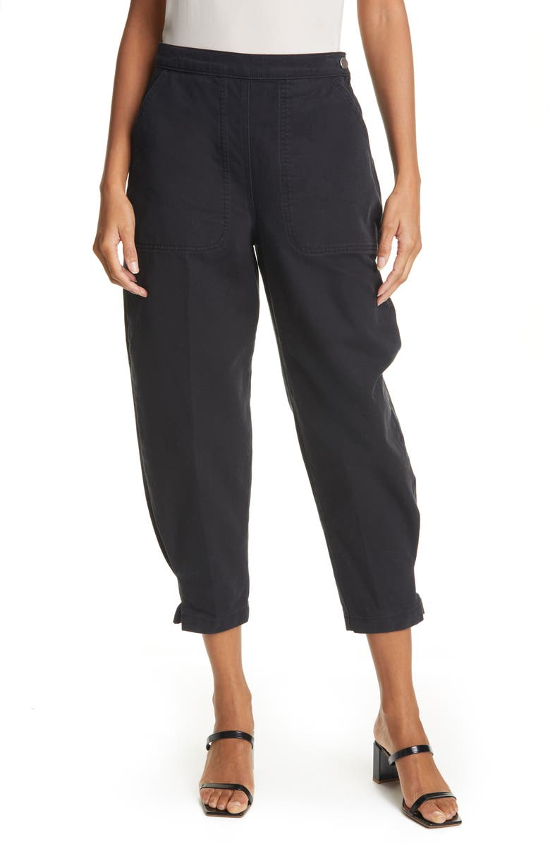 RACHEL COMEY Transit Crop Jeans, Main, color, Black