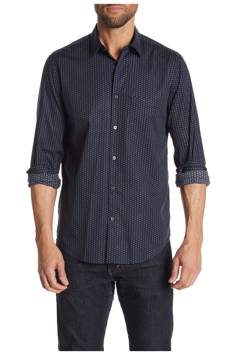 THEORY Irving Pa Connel Dotted Sport Shirt, Main, color, 057