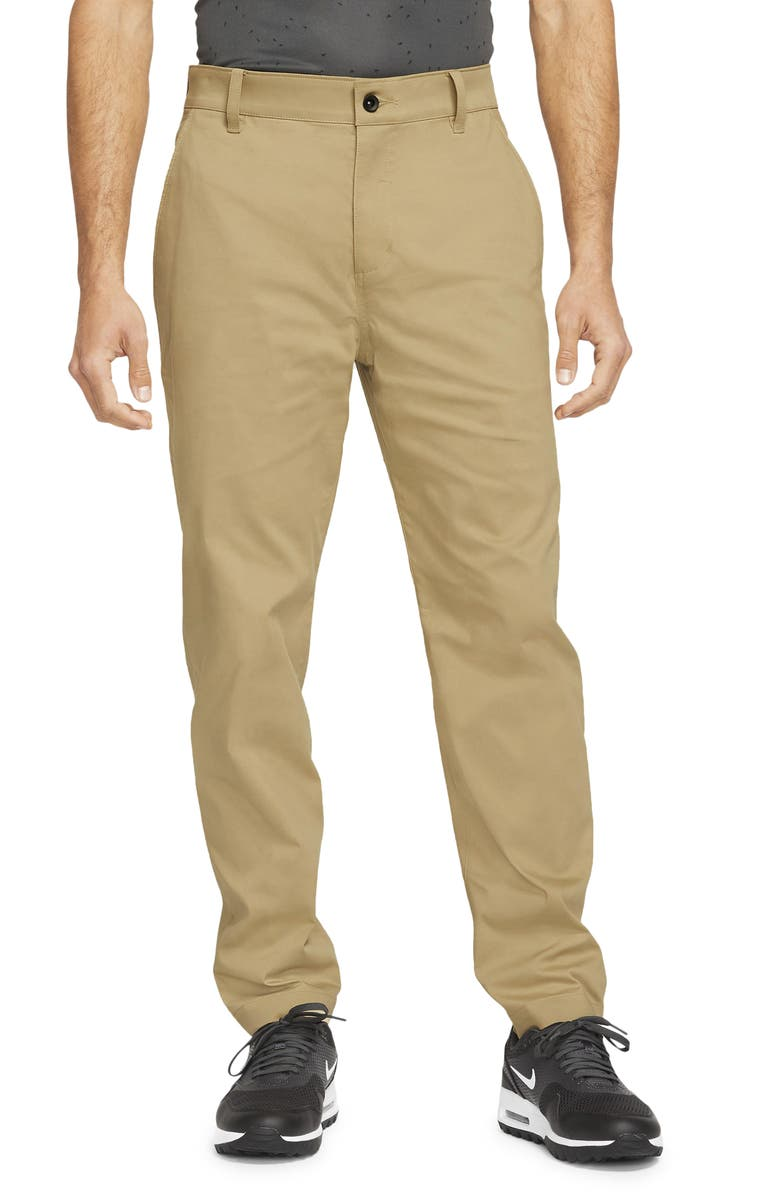NIKE GOLF Nike Dri-FIT UV Flat Front Men's Chino Golf Pants, Main, color, PARACHUTE BEIGE