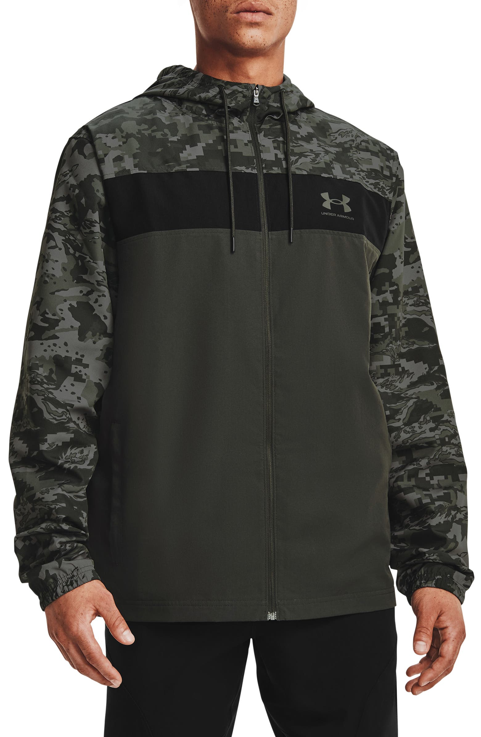 Under Armour: Sportstyle Camo Hooded Windbreaker! .97 (REG: .00) with free shipping at Nordstrom!