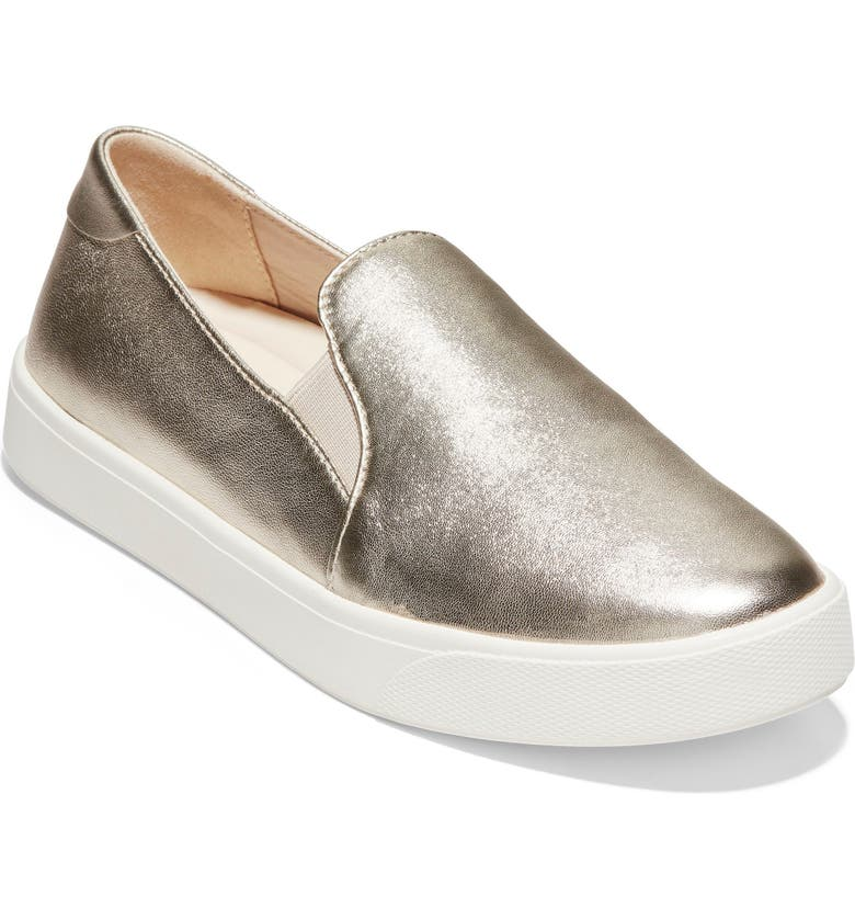COLE HAAN GrandPro Spectator 2.0 Slip-On, Main, color, LIGHT GOLD LEATHER