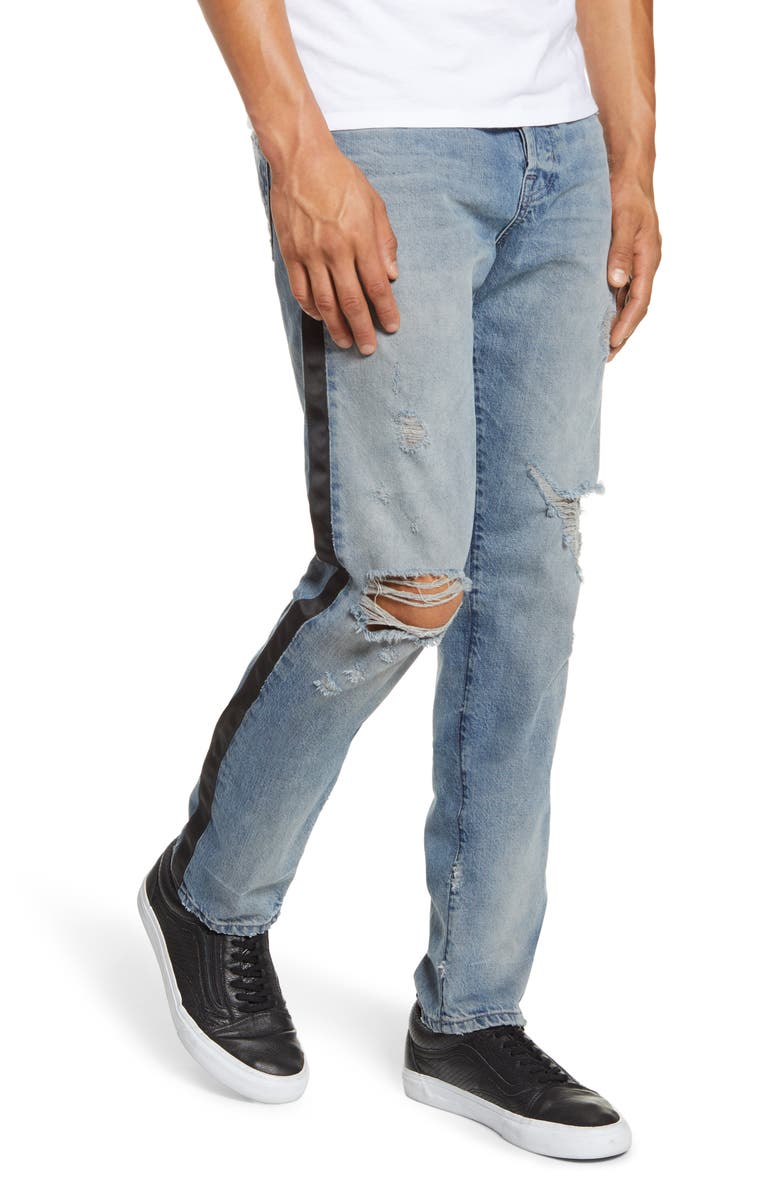 AG Dylan Satin Side Skinny Fit Jeans, Main, color, 492