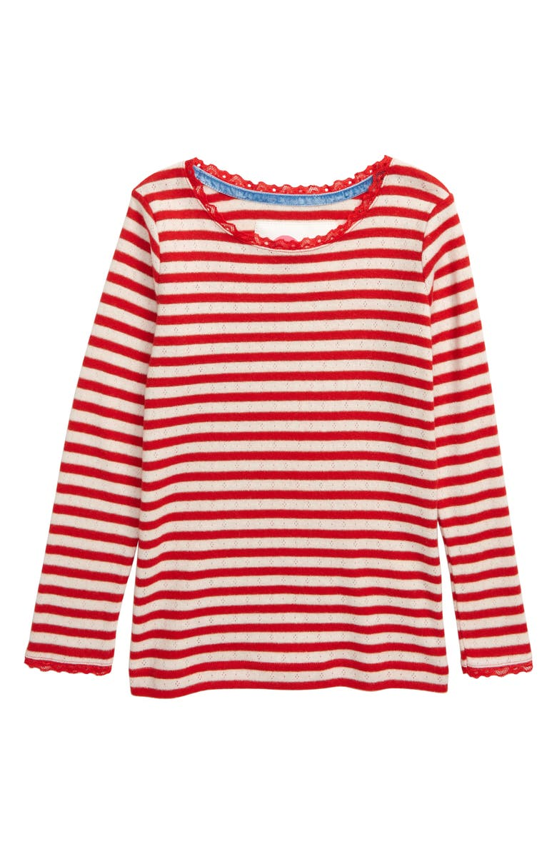 MINI BODEN Sparkly Pointelle Tee, Main, color, 614