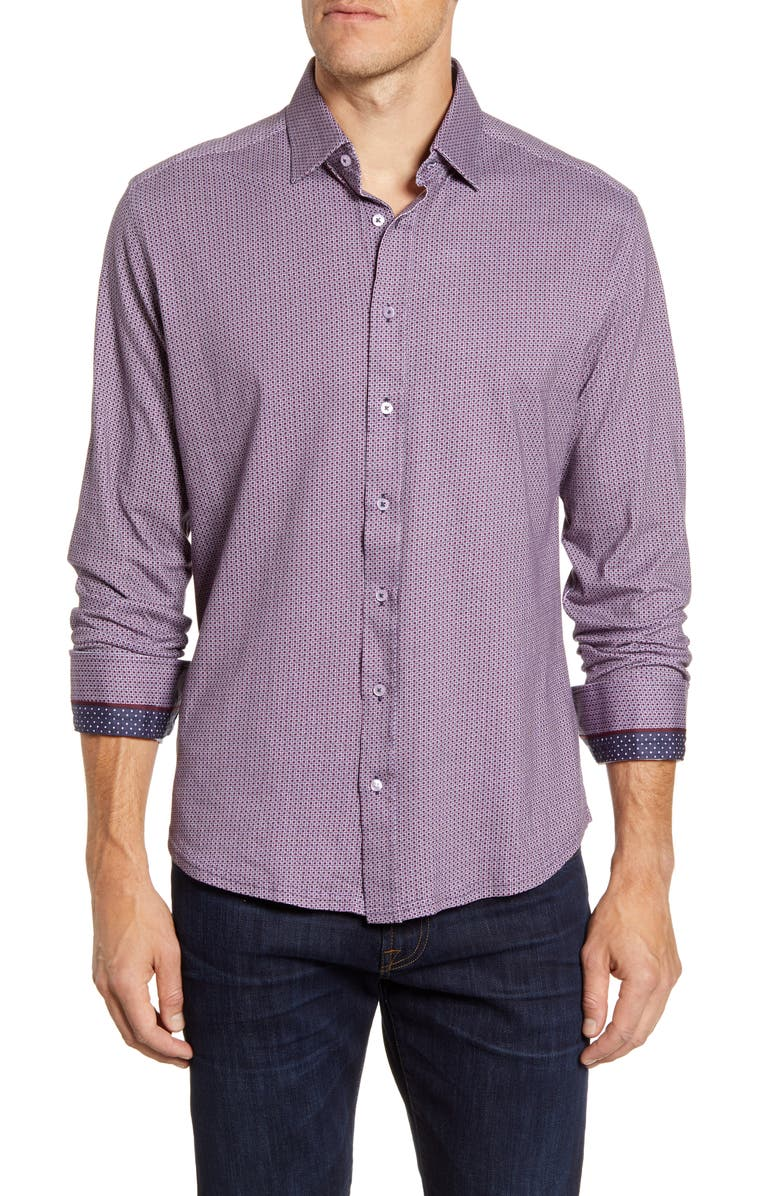 STONE ROSE Regular Fit Button-Up Performance Shirt, Main, color, 680