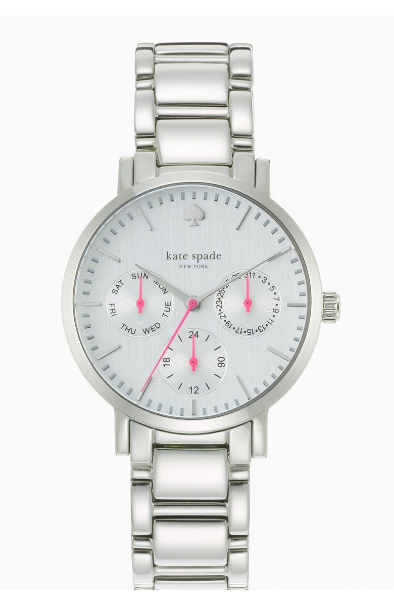 KATE SPADE NEW YORK 'gramercy' multifunction bracelet watch, 34mm, Main, color, 040