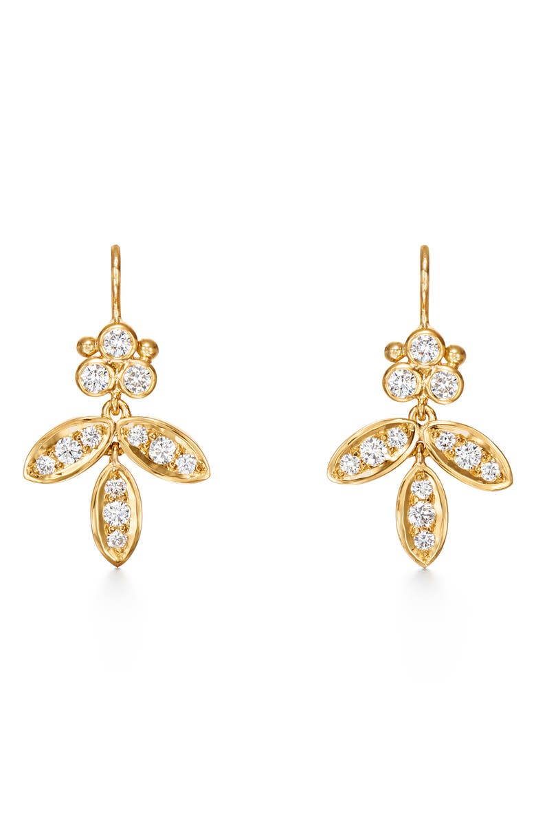TEMPLE ST. CLAIR Foglia Diamond Pavé Earrings, Main, color, 710