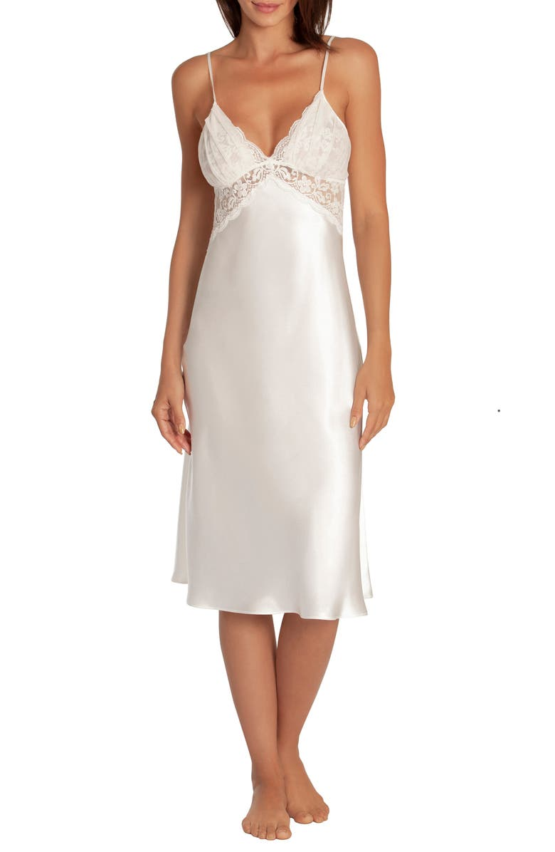 IN BLOOM BY JONQUIL Say Yes Satin & Lace Nightgown, Main, color, 900