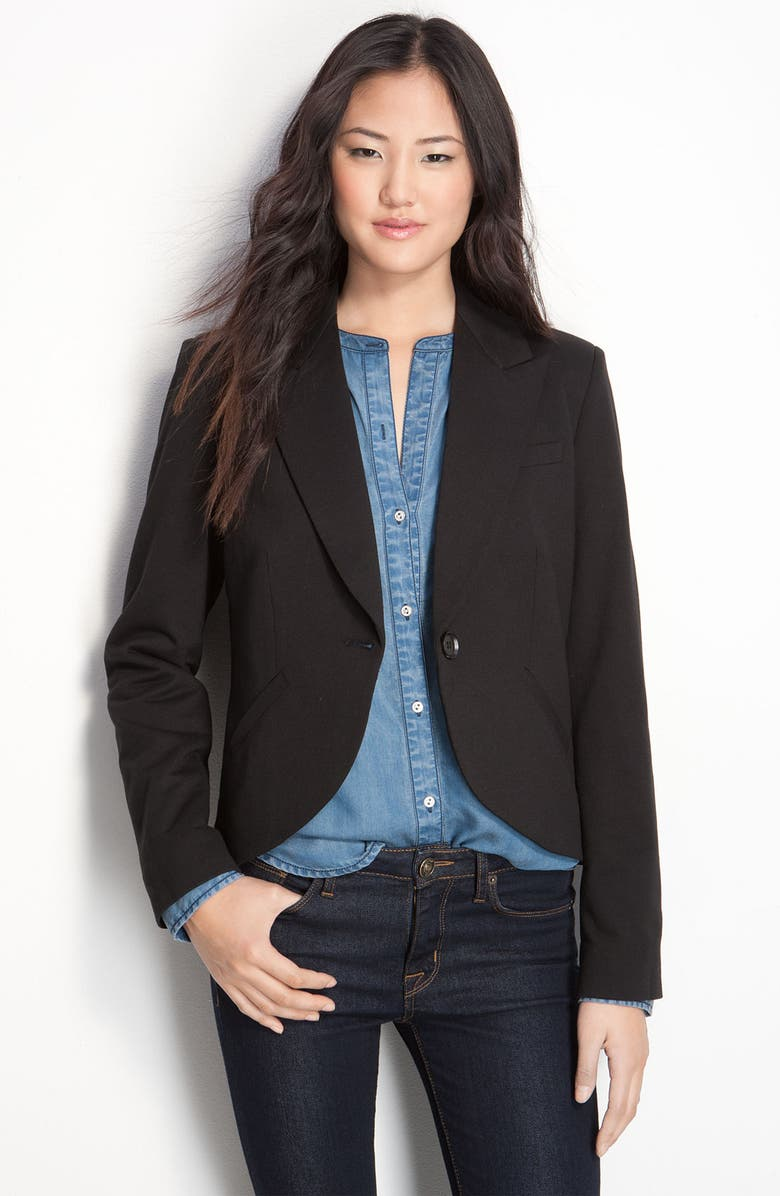 GIBSONLOOK Gibson Structured One Button Jacket, Main, color, Black