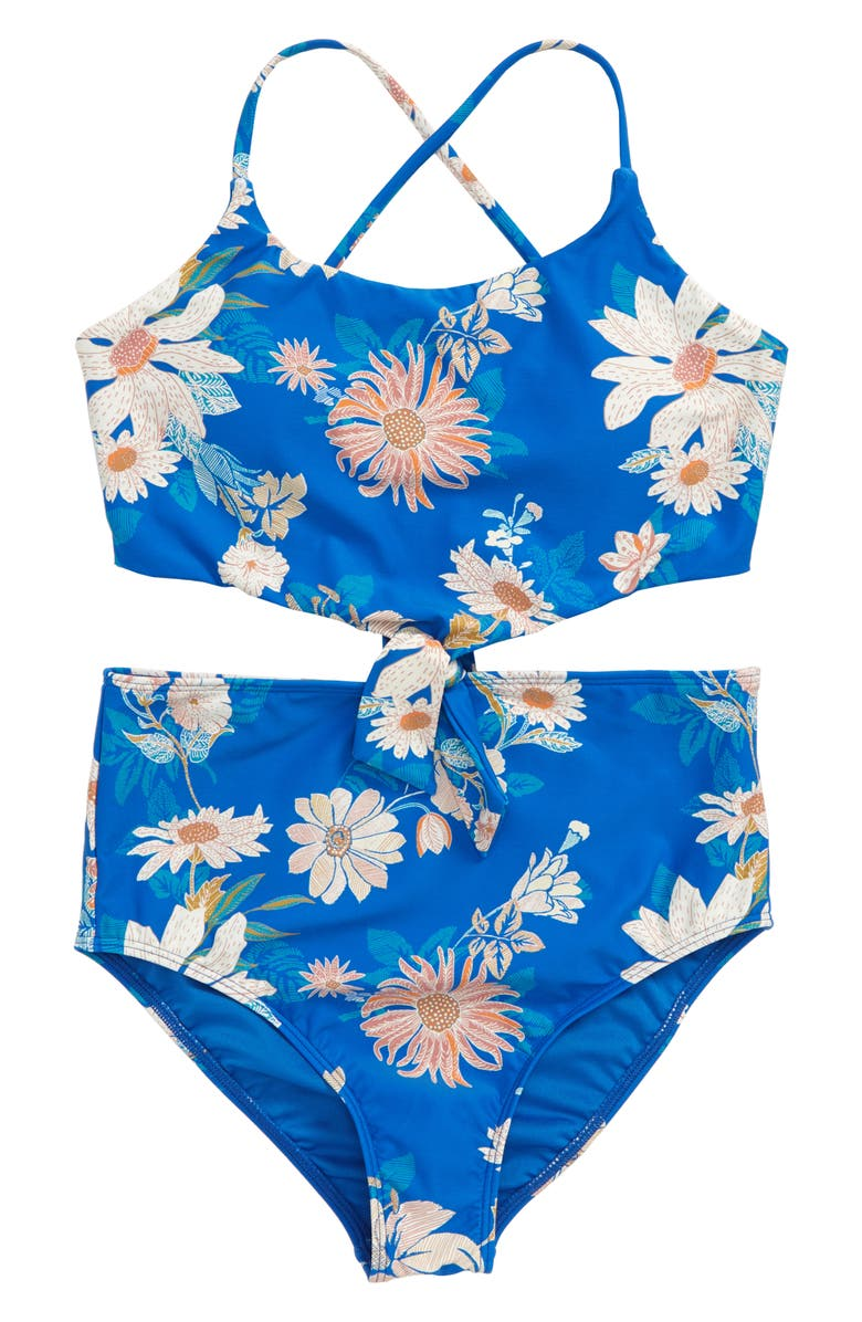 O'NEILL Lilla Knotted One-Piece Swimsuit, Main, color, 400