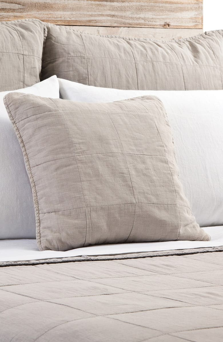 POM POM AT HOME 'Antwerp' Cotton Coverlet, Main, color, NATURAL