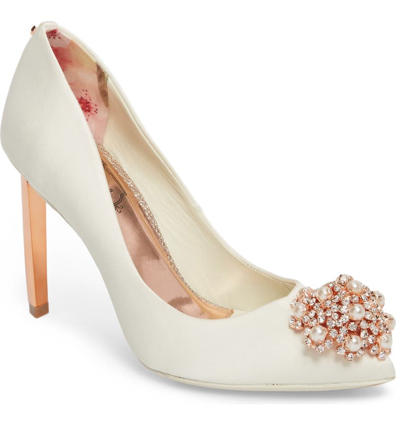 TED BAKER LONDON 'Peetch' Pointy Toe Pump, Main, color, 122