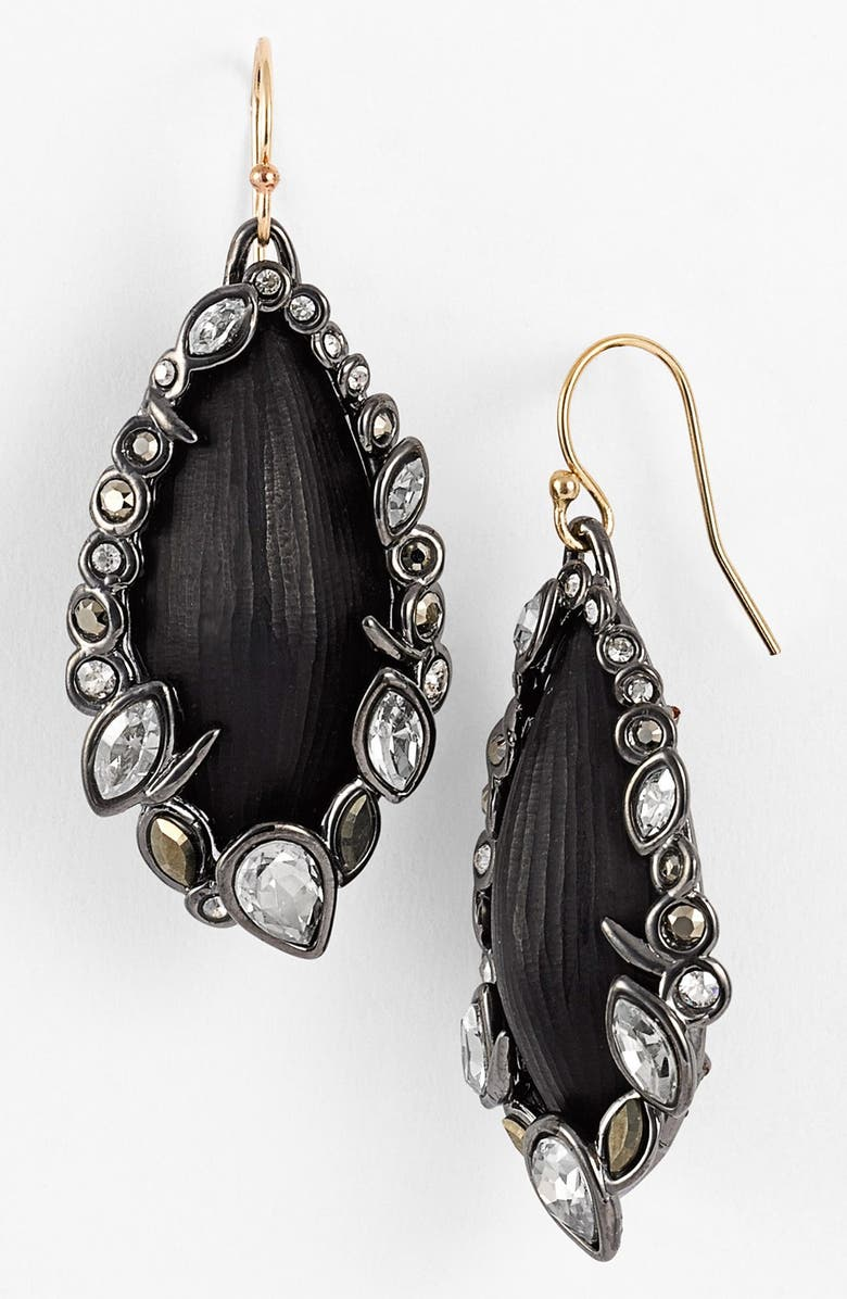 ALEXIS BITTAR 'Lucite<sup>®</sup> - Imperial Noir' Framed Drop Earrings, Main, color, 001