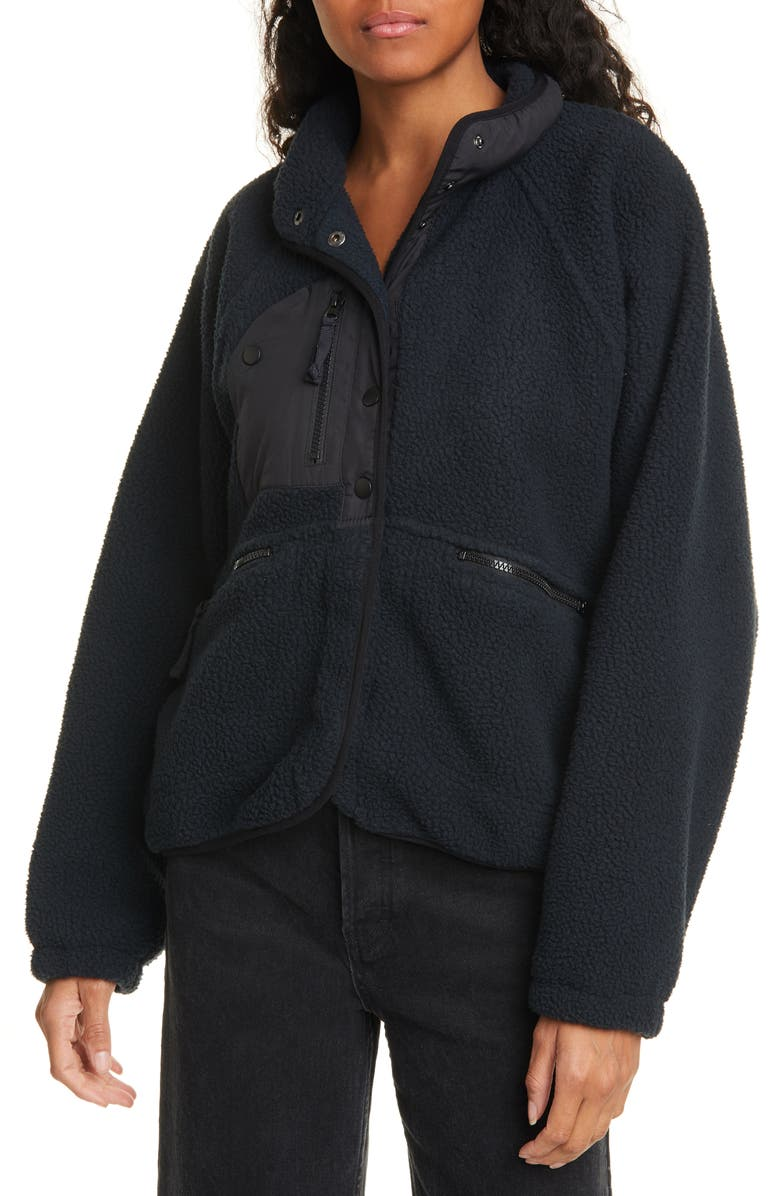 FREE PEOPLE FP Movement Hit the Slopes Fleece Jacket, Main, color, 001