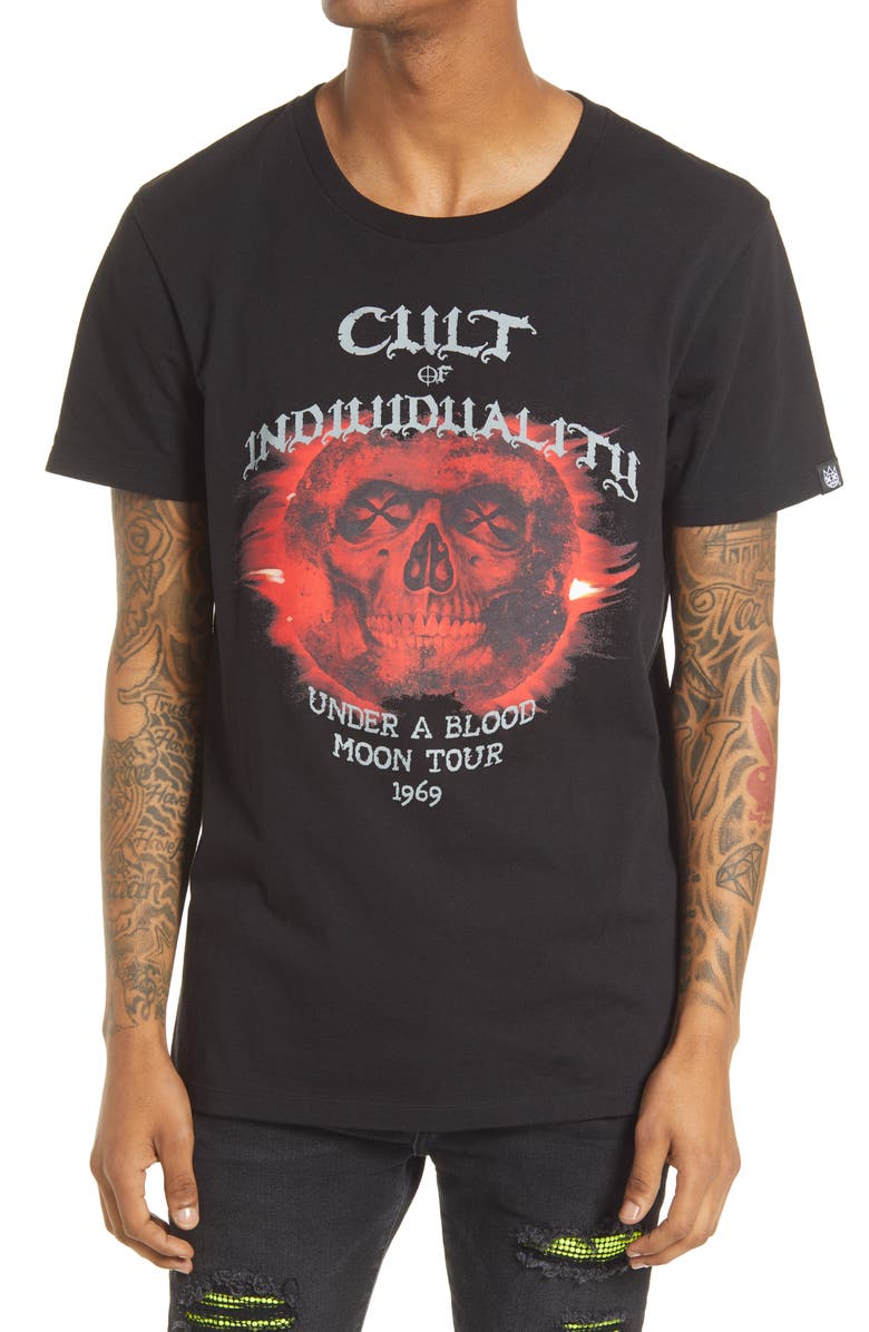 CULT OF INDIVIDUALITY Graphic Tee, Main, color, Black