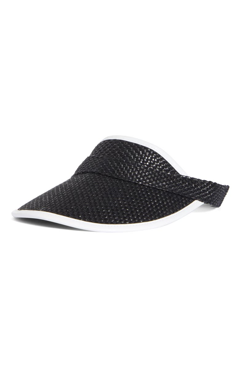 RAG & BONE Straw Visor, Main, color, 001