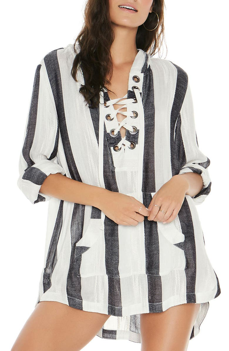 L SPACE Love Letters Cover-Up Tunic, Main, color, 025
