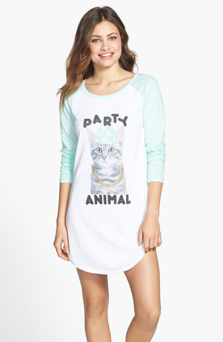 COZY ZOE 'Party in the USA - Party Animal' Nightshirt, Main, color, 100