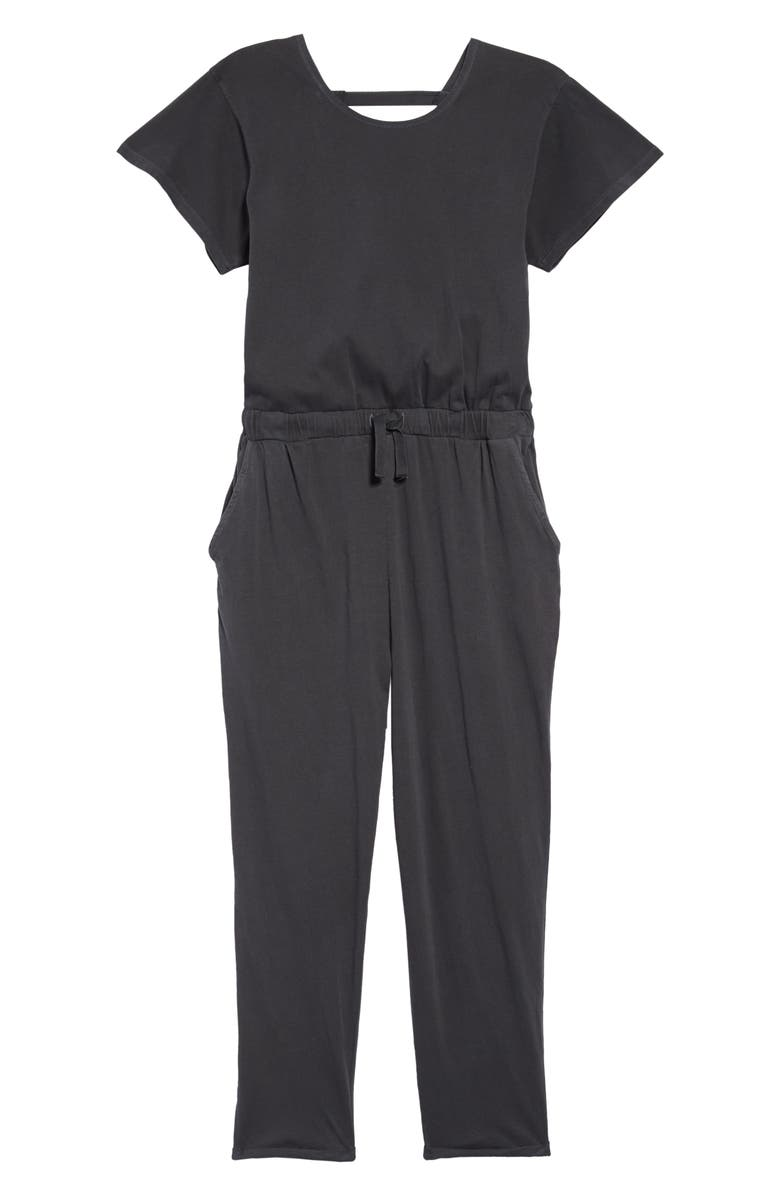 TREASURE & BOND Cotton Jumpsuit, Main, color, 001