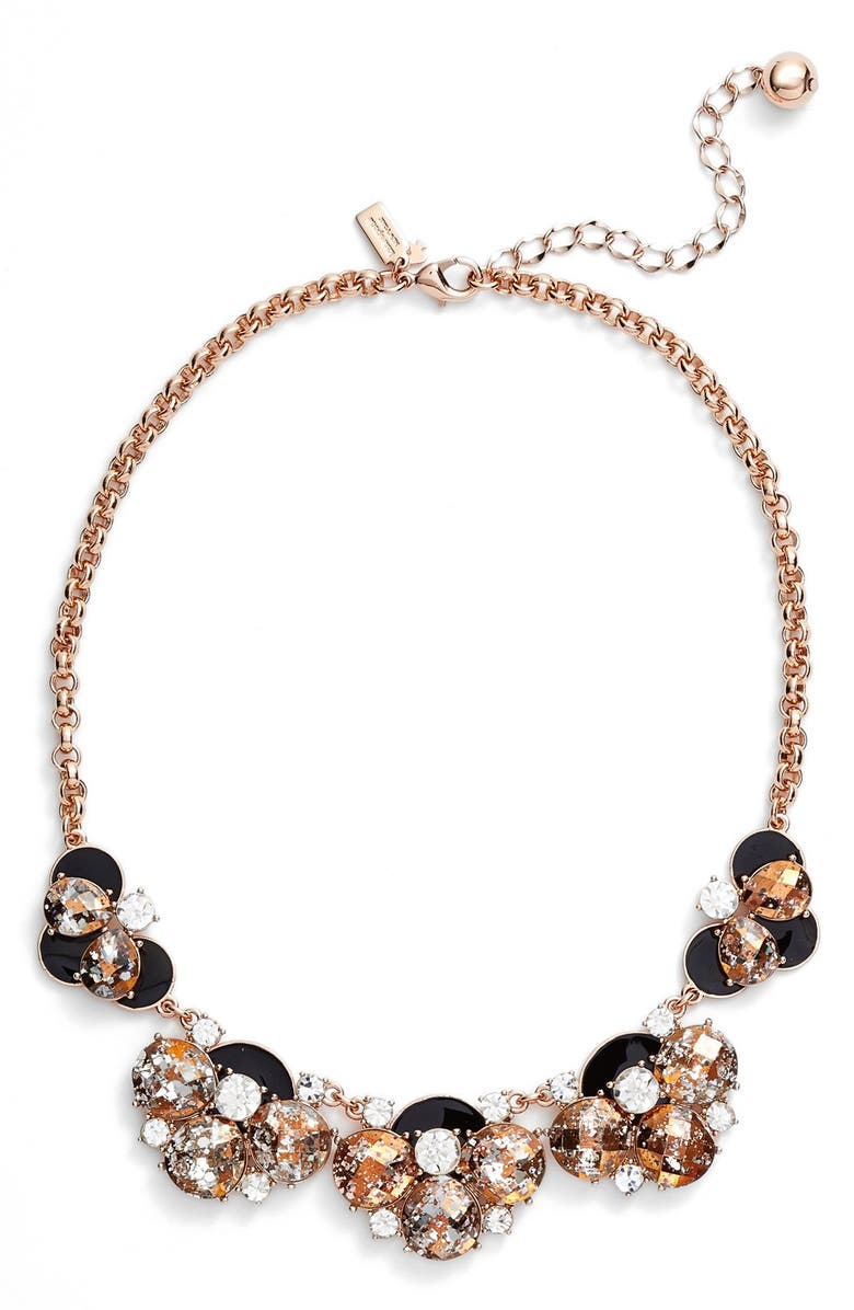 KATE SPADE NEW YORK 'fame & flowers' necklace, Main, color, 001