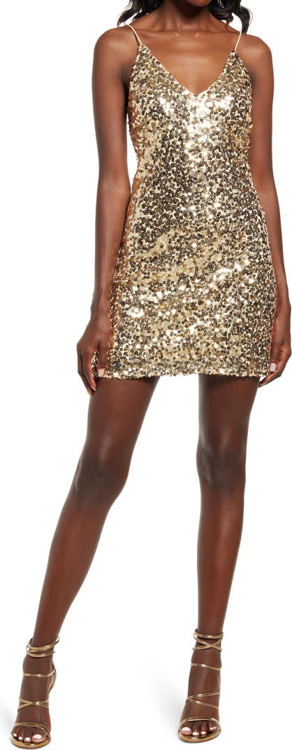 Force of Fashion Sequin Backless Minidress