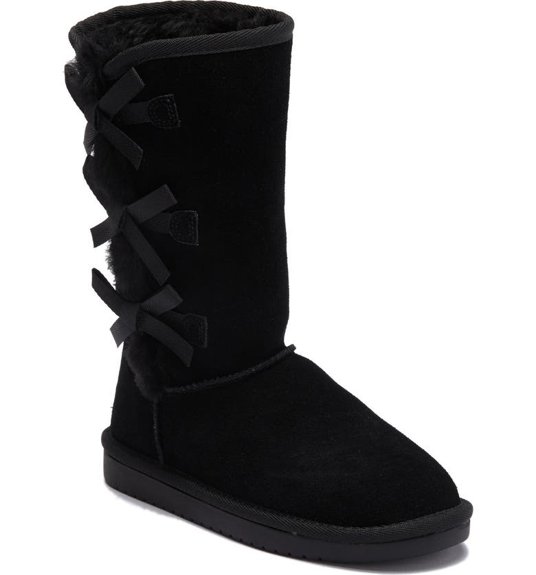 KOOLABURRA BY UGG Victoria Faux Fur Lined Suede Tall Boot, Main, color, BLK
