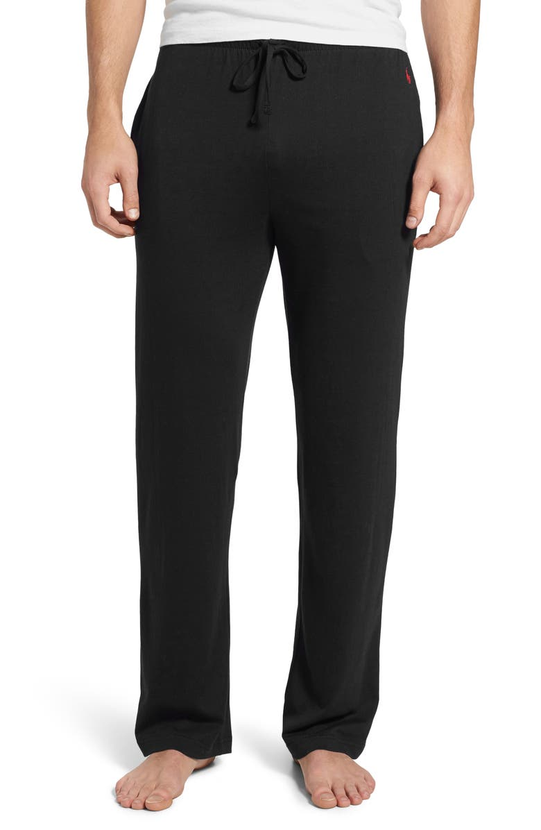 POLO RALPH LAUREN Pajama Pants, Main, color, POLO BLACK