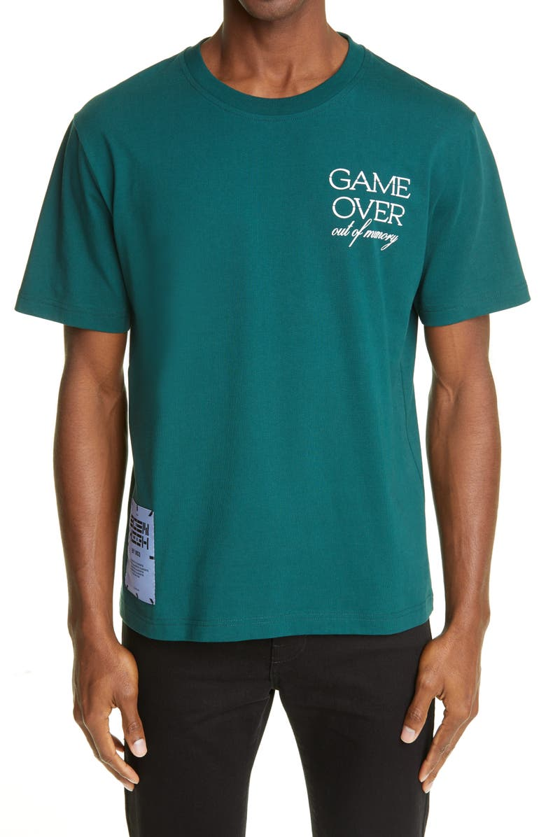 MCQ Game Over Graphic Tee, Main, color, VARSITY GREEN