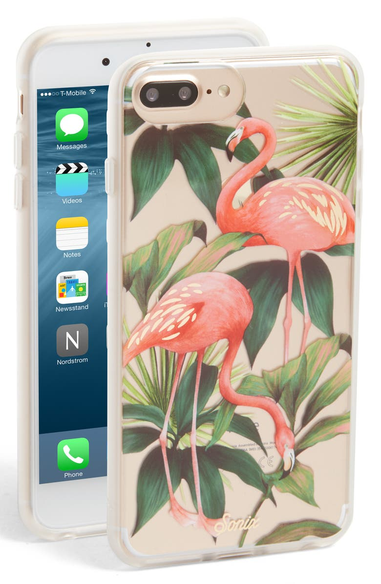 SONIX Flamingo Garden iPhone 6/6s/7/8 & 6/6s/7/8 Plus Case, Main, color, 650