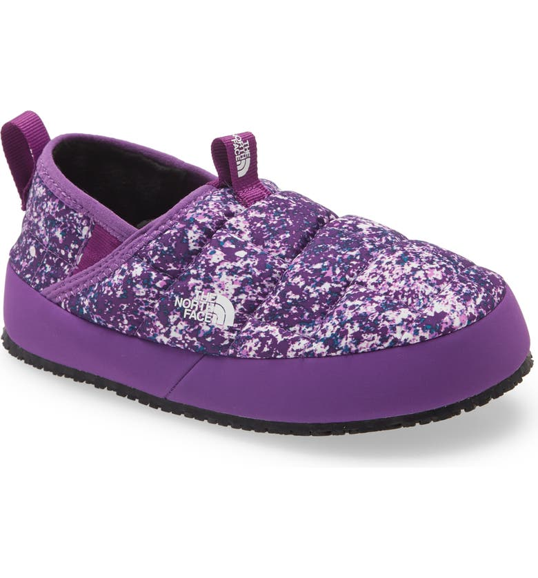 THE NORTH FACE ThermoBall<sup>™</sup> Traction II Convertible Slipper, Main, color, GRAVITY PURPLE PRINT