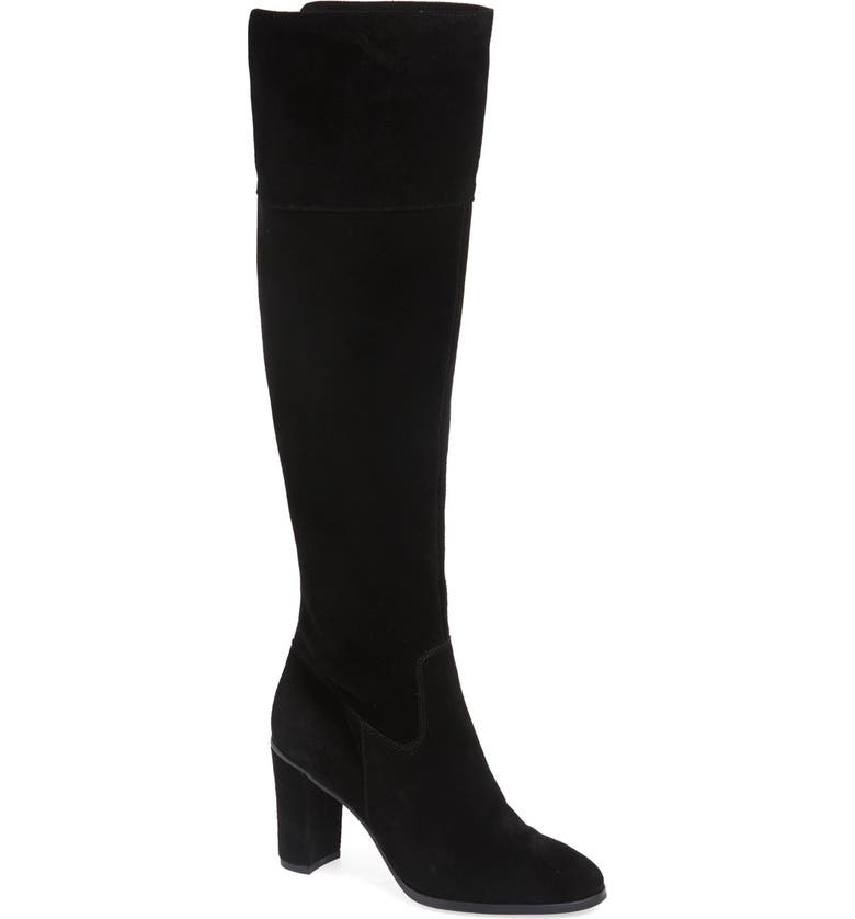 ARTURO CHIANG 'Mikayla' Over the Knee Boot, Main, color, BLACK SUEDE