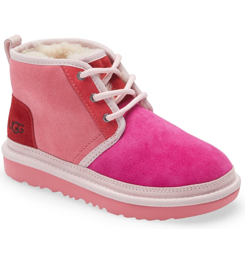 UGG<SUP>®</SUP> Neumel II Water Resistant Chukka Boot, Main, color, PINK ROSE / SAMBA RED