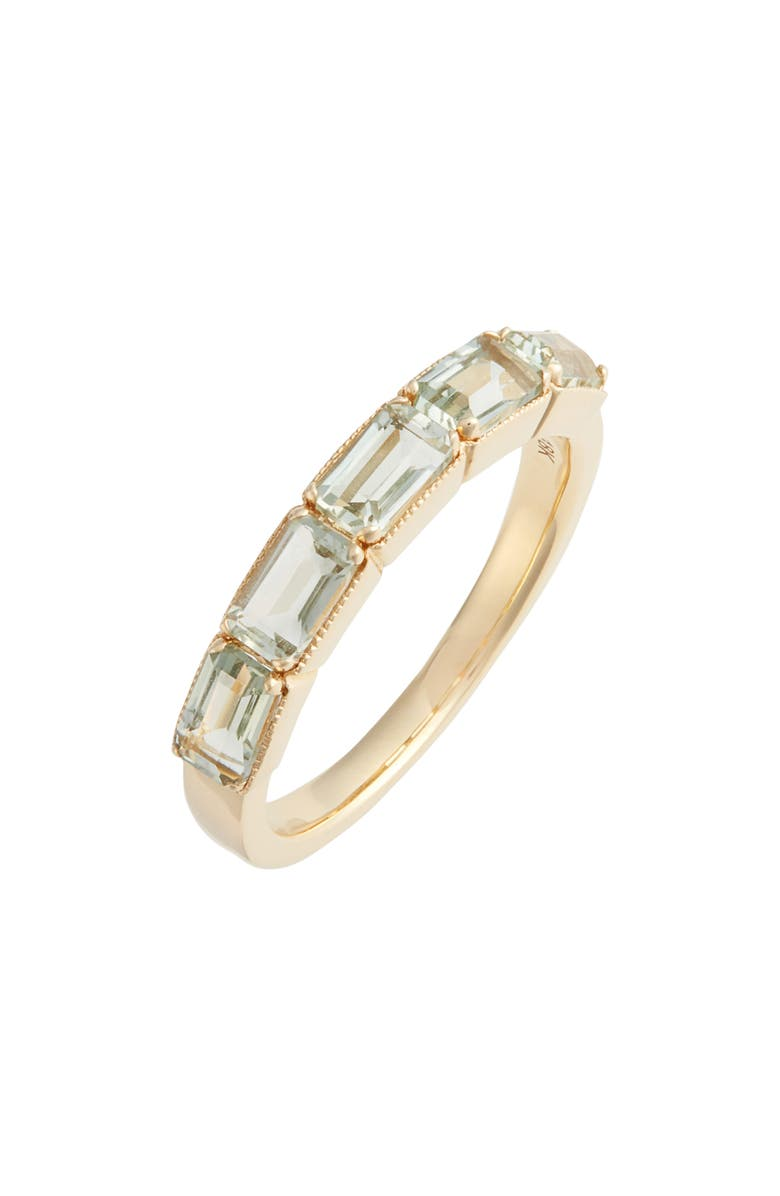 BONY LEVY Green Amethyst Baguette Stack Ring, Main, color, 300