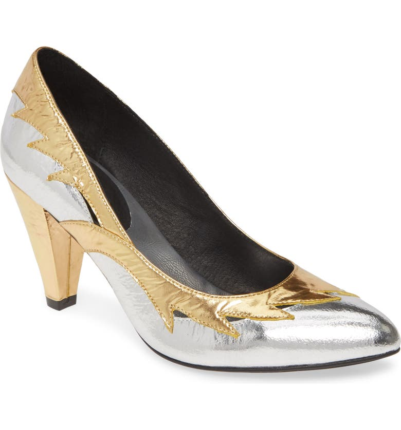 JEFFREY CAMPBELL Cyndi Metallic Pump, Main, color, 043
