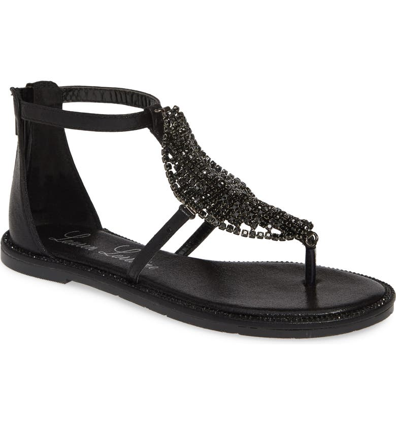 LAUREN LORRAINE Faye Crystal Embellished Sandal, Main, color, 001