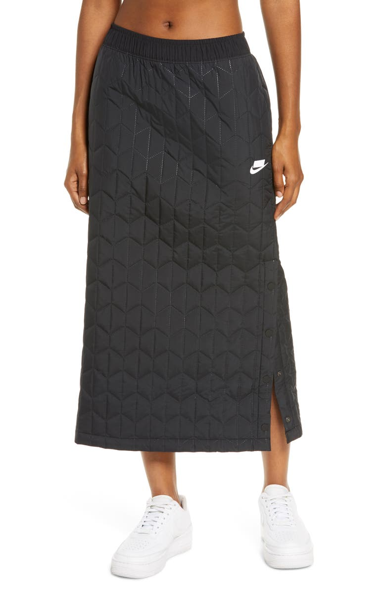 NIKE Sportswear Quilted Midi Skirt, Main, color, 010